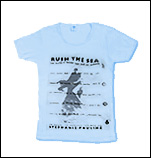 Running In to the Water Fitted T-Shirt